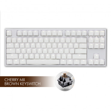 Ducky ONE 2 White LED TKL- MX Brown | Tomauri